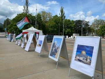 معرض صور و وقفة تضامنیة مع الشعب الفلسطینی فی یوم القدس الشریف